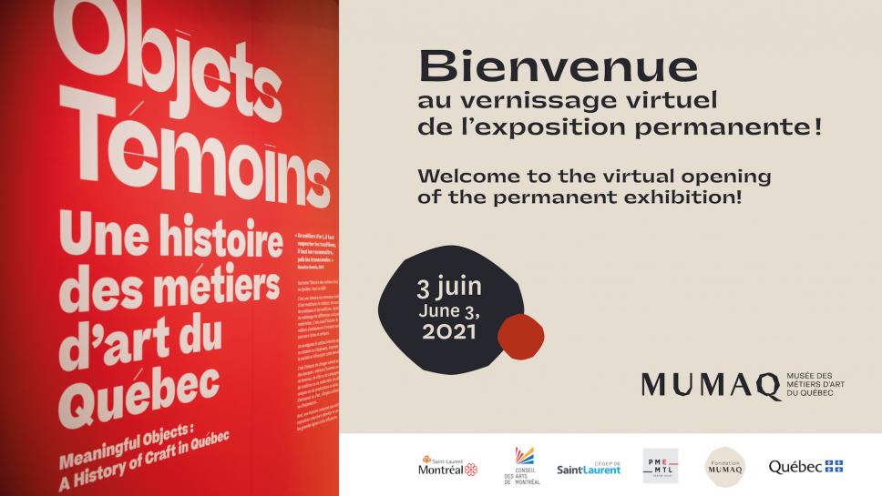 Vernissage virtuel de notre exposition permanente