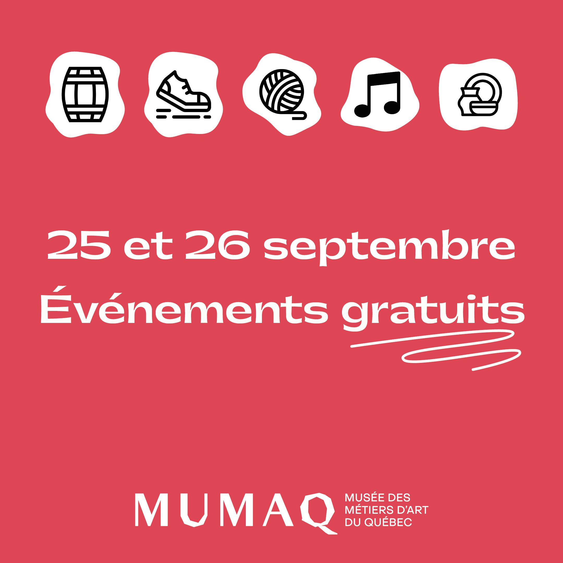 Les journées de la culture au MUMAQ !